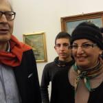 Sgarbi Prema Lena Gentile presidente ANAS Zonale Montegiordano (CS) alla Biennale di Verona