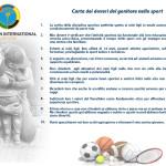"""CALTANISSETTA:L'Amministrazione sottoscrive la """"Carta dei doveri del genitore nello sport"""" del Panathlon International"""