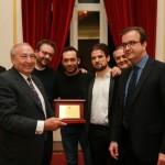 COSENZA: Riconoscimento al senatore Renato Turano dalla Commissione Cultura, alla presenza del Sindaco Mario Occhiuto