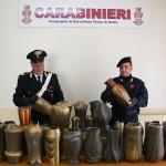 BARCELLONA (ME): Torrente Mela i Carabinieri di Merì ritrovano un deposito di materiale pregiato.