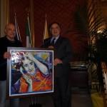 PALERMO: Palazzo delle Aquile il Sindaco incontra l'artista palermitano Lorenzo Maria Bottari