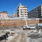 COSENZA:Piazza Bilotti inizia il getto della fondazione del parcheggio