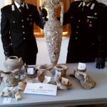 Vulcano (ME): I Carabinieri sequestrano dei reperti archeologici