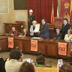 PALERMO: Il sindaco  Leoluca Orlando ha conferito la cittadinanza onoraria alla regista tedesca Margarethe vonTrotta