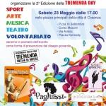 """Sabato 23 maggio a Cosenza la seconda edizione del """"Tremenda day"""", promosso dalla Fondazione """"Exodus"""" e dai Centri Giovanili di Don Mazzi"""