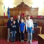 MILAZZO (ME): Alunni dell'istituto comprensivo primo ricevuti dal sindaco Pino