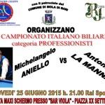 A.N.A.S. Mola organizza il 25 giugno il campionato Italiano di Biliardo categoria professionisti