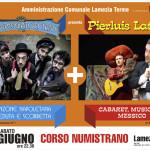 """Lamezia Terme (CZ): SABATO 27 GIUGNO SU CORSO NUMISTRANO SPETTACOLO DI MUSICA E CABARET CON """"I POSTEGGIATORI TRISTI"""" E """"PIERLUIS LATINO"""""""