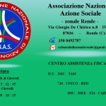 Attivo il CAF della sede zonale A.N.A.S. di Rende (Cs)