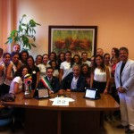 Il sindaco di Ficarazzi incontra l'Asd Volley città di Ficarazzi, vincitori di coppa città di Palermo