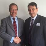 A.N.A.S. incontra Farage, leader del Partito per l'Indipendenza del Regno Unito (UKIP)