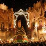Il Festino di Santa Rosalia dalle Terrazze del NH Hotel di Palermo