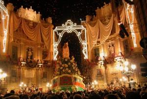 Il Festino di Santa Rosalia dalle Terrazze del NH Hotel di Palermo ...