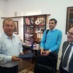 Consegnata una targa di riconoscimento al sindaco del comune di Gevgelija in Macedonia, per l'ottimo lavoro umanitario svolto