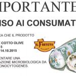 urgente per i consumatori; notizia verificata  COOP – ritiro prodotto  Girellone