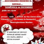 """A.N.A.S. zonale Montegiordano organizza """"Decoriamo insieme il Natale…"""""""