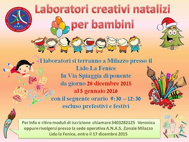 Famoso A.N.A.S. zonale Milazzo organizza laboratori creativi natalizi per  LU94