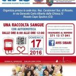 A.N.A.S. Roseto Capo Spulico informa che domenica 17 gennaio si terrà una Raccolta di Sangue in collaborazione con Avis