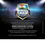 "A.N.A.S. informa che venerdì 22 gennaio verrà presentato il progetto ""Wheelchair Rugby Catania"""