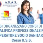 L'Associazione Nazionale di Azione Sociale A.N.A.S. apre le iscrizioni per la riqualifica OSS Sicilia