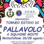 """ANAS Italia Mottafallone (CS) organizza torneo estivo di """"PALLAVOLO"""" a squadre miste"""