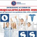 A.N.A.S. apre le iscrizioni al corso di riqualificazione come Operatore Socio Sanitario – Trapani