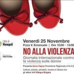 NO alla violenza, giornata internazionale contro la violenza sulle donne