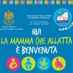 """Allattamento al seno: """"Qui la mamma che allatta è benvenuta"""", sabato inaugurazione postazione a Palazzo delle Aquile"""