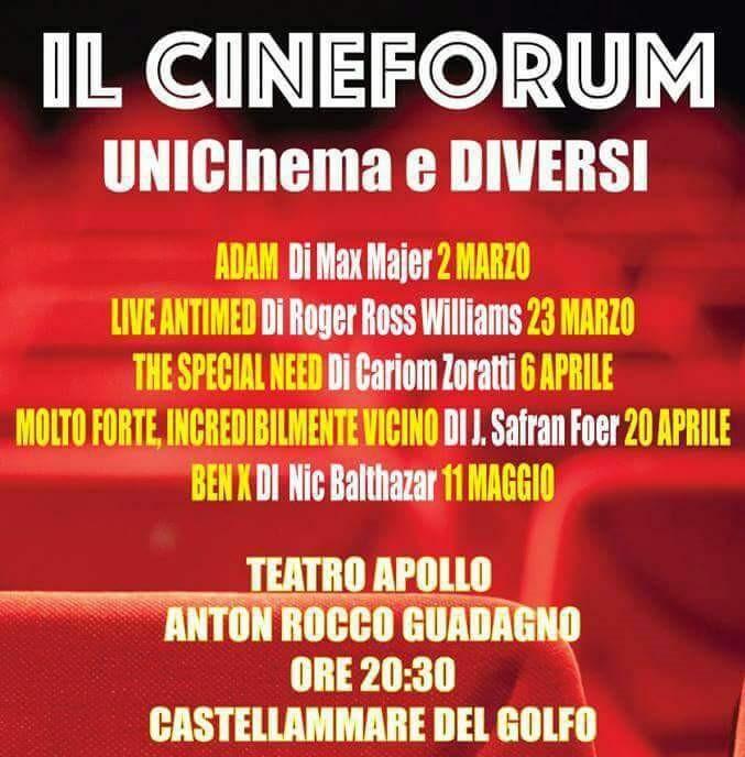 """Cinque film per raccontare e far conoscere l'autismo: proiezioni fino a maggio al teatro Apollo Anton Rocco Guadagno a cura dell'associazione """"Insieme si può"""""""