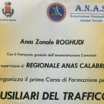 Corso per volontari ausiliario del traffico organizzato da ANAS Roghudi con il patrocinio del Comune