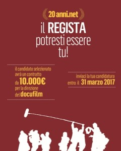 locandina bando Regia 20anni