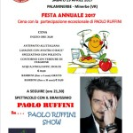 l'Anas Bonavigo organizza una festa annuale con la partecipazione del grande Paolo Ruffini