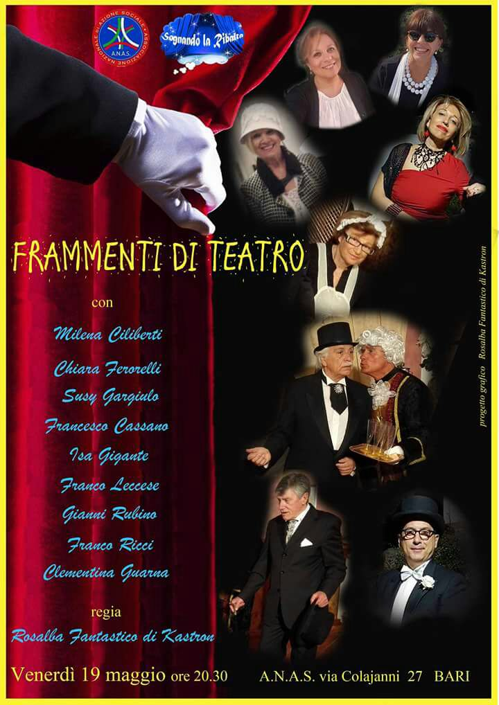 ANAS Puglia: va in scena all' auditorium i «frammenti di teatro»