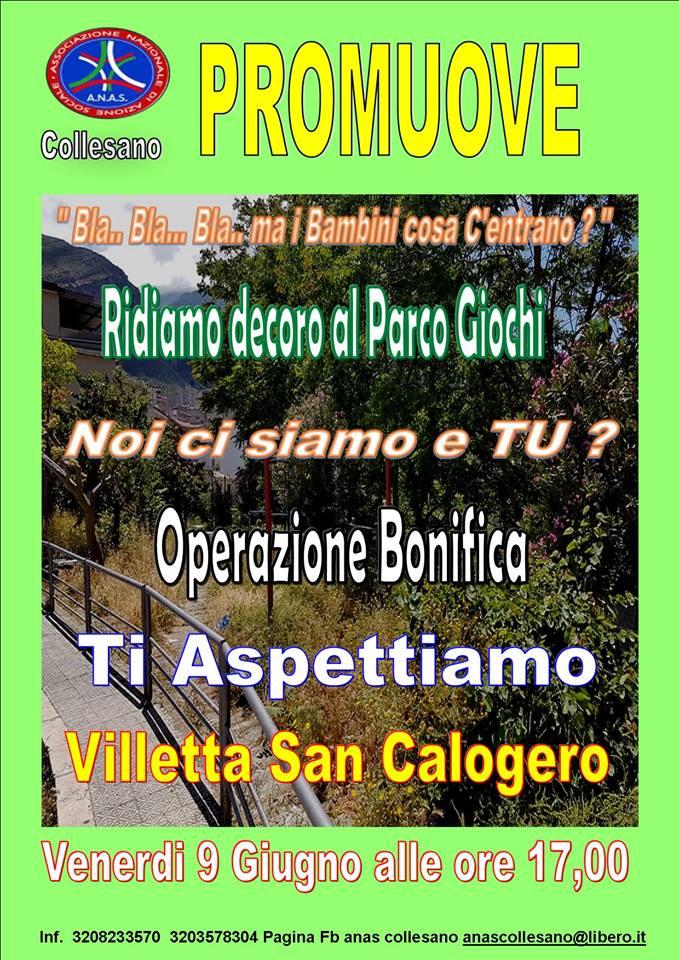 L'Anas Collesano promuove il ripristino del Parco Giochi della Villetta San Calogero