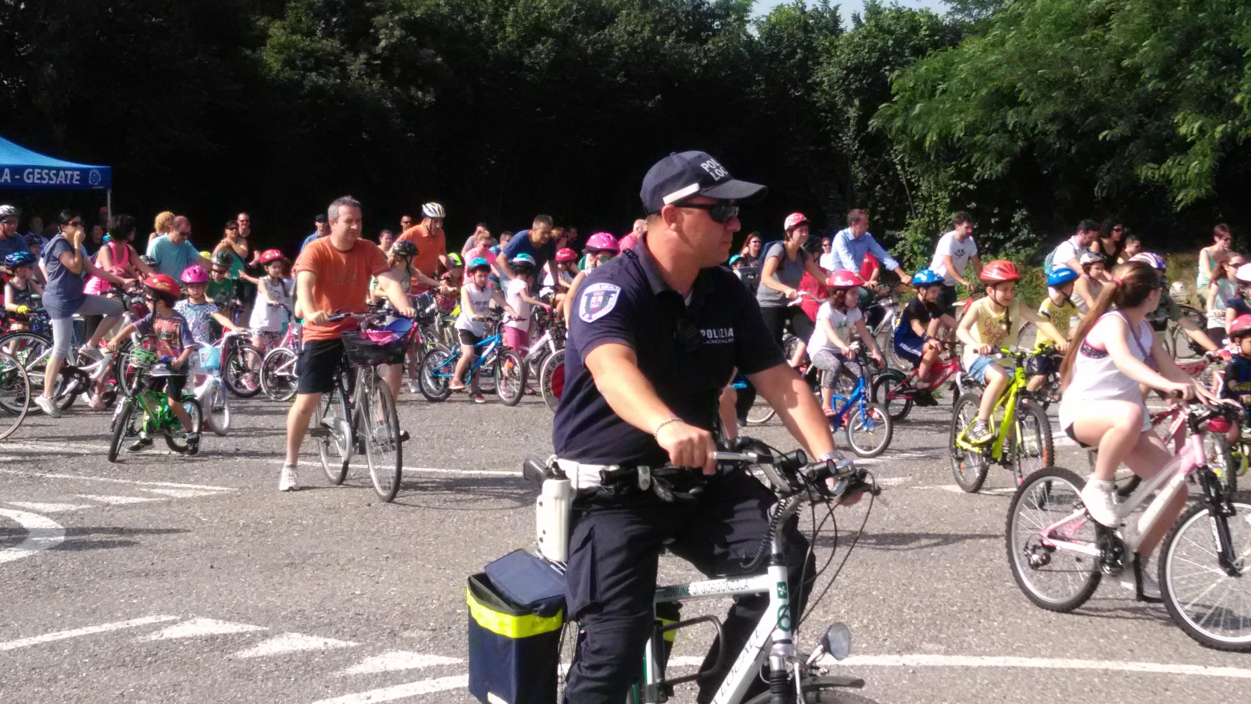 Anche oggi l'Anas presente all'attività sportiva ciclistica a Gorgonzola