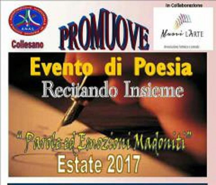Bando: evento di poesia recitando insieme promosso da ANAS Collesano