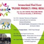 Roma A.N.A.S. workshop progetto plaese il prossimo 16 giugno