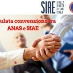 Stipulata la convenzione tra la Società Italiana degli Autori ed Editori (S.I.A.E.) e l'ANAS