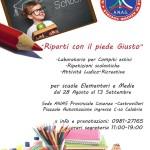 Anas provinciale Cosenza attiva dal 28 Agosto al 13 Settembre corsi di recupero scolastici e attività ludico/ricreative