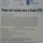 Puglia: L'Associazione Anas promuove la Sagra del maiale nero a Faeto (FG)