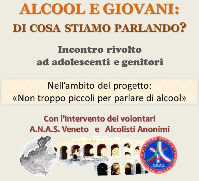 A.N.A.S. Veneto e associazione Vera Vita: insieme contro l'alcolismo.