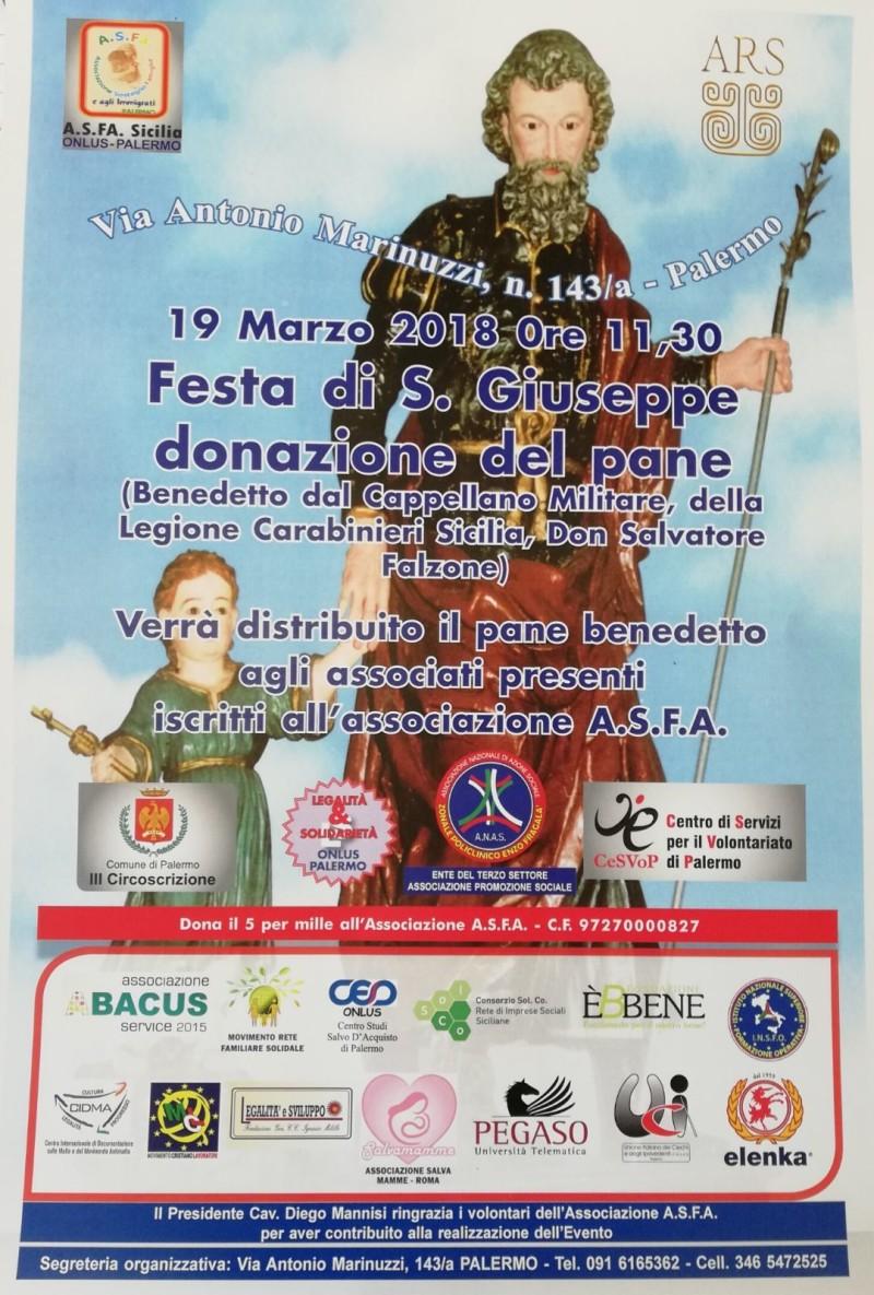 Anas Policlinico Enzo Fragalà organizza un evento in occasione della Festa di San Giuseppe