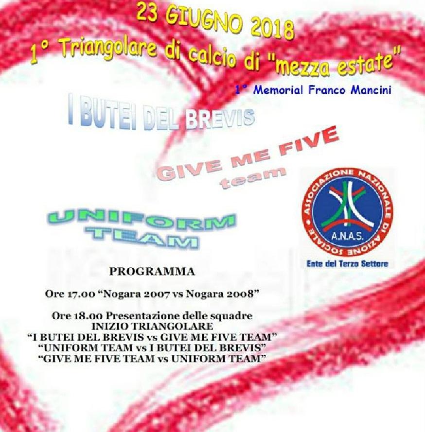ANAS Veneto Presidenza di Bonavigo da un calcio all'indifferenza con un torneo di solidarietà