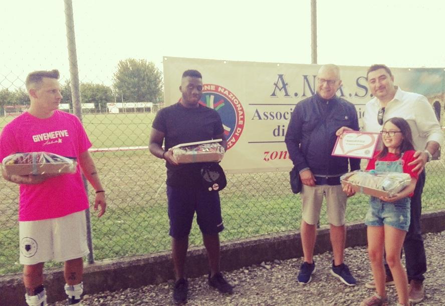 L'Unione fa forza, A.N.A.S., GIVE ME FIVE con l'associazione FIORI BLU ONLUS di Padova per ....