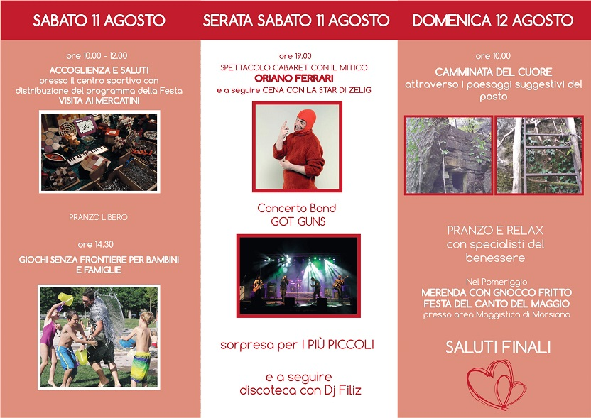 Cabaret, giochi, mercatini e tanto altro con ANAS Busto Arsizio a Morsiano (RE)