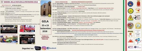 La festa del Volontariato della Protezione Civile a Gela il prossimo 22 e 23 settembre