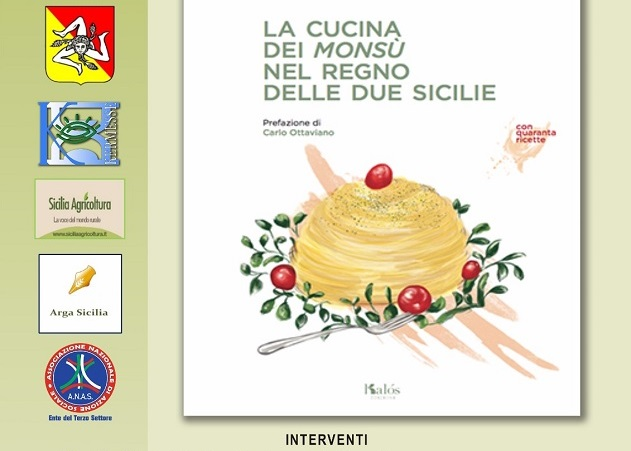 A Villa Niscemi sarà presentato il prossimo 26 il libro sulla cucina dei Monsu' di Mario Liberto