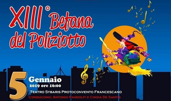 La Befana del Poliziotto -SIULP - ha portato a Castrovillari (CS) l'artista e comico Pippo Franco