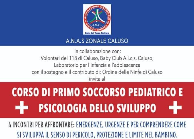 L'ANAS Caluso propone 4 incontri per migliorare le capacità d'intervento in emergenza