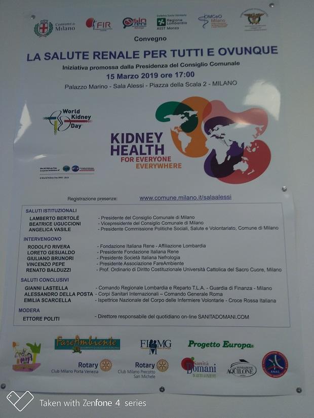 La salute reanle per tutti ed ovunque il titolo dell'evento organizzato a Milano e patrocinato dall'ANAS
